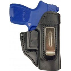 IWB 5 Leather Holster for Sig Sauer P250 Sub Compact black VlaMiTex