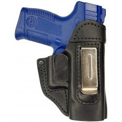 IWB 5 Leather Holster for Taurus Millennium Pro 140 black VlaMiTex