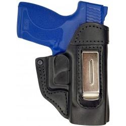 IWB 5 Fondina in Pelle per Smith & Wesson Shield Nero VlaMiTex