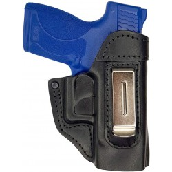 IWB 5 Leather Holster for Smith & Wesson Shield black VlaMiTex
