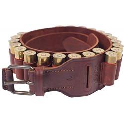 J45 Патронташ открытый кожаный на 22 патрона 20 калибра коричневый