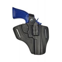 R4 Holster pour revolver Gletcher CLT B4 canon 4 pouces, en cuir, Noir, VlaMiTex