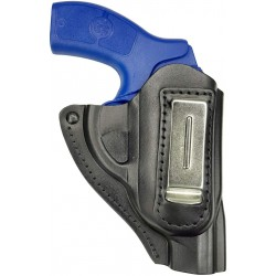 IWB 11 Funda para revólver WEIHRAUCH HW 37 de piel negro VlaMiTex