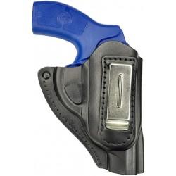 IWB 11 Funda para revólver Smith & Wesson 637 de piel negro VlaMiTex