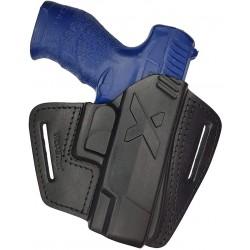 U16 Leder Holster für Walther Creed Schnellziehholster schwarz VlaMiTex