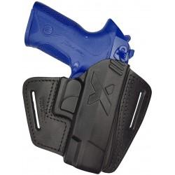 U16 Pistolera de cuero para Beretta Px4 Storm negro VlaMiTex