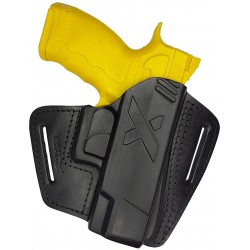 U16 Pistolera de cuero para Rex Zero negro VlaMiTex