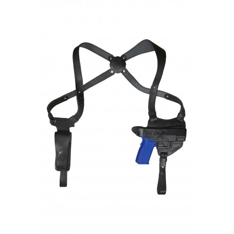 S3 Leder Schulterholster für Springfield XD Schwarz VlaMiTex