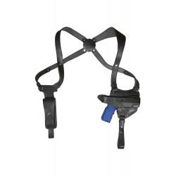 S17 Leder Schulterholster für Steyr M-A1 Schwarz VlaMiTex
