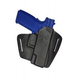 U16 Pistolera de cuero para SPRINGFIELD XD45 negro VlaMiTex