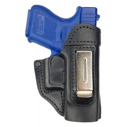 IWB 5 Funda de piel para Glock 26 27 28 29 30 33 36 39 negro VlaMiTex