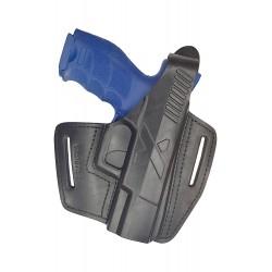 B5 Pistolera de cuero para Hekler & Koch VP40 negro VlaMiTex