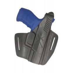 B5 Leder Holster für Walther PPQ Pistolenholster schwarz VlaMiTex