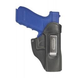IWB 3 Leder Holster für Glock 17 Schwarz VlaMiTex