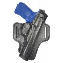 B7 Leder Gürtel Holster für Beretta 92 FS schwarz VlaMiTex