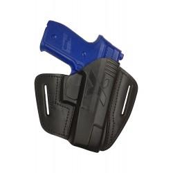 U22 Pistolera de cuero para Sig Sauer SP 2022 negro VlaMiTex