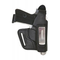 IWB 5-5 Pistolera de piel para Walther PP Manurhin negro VlaMiTex