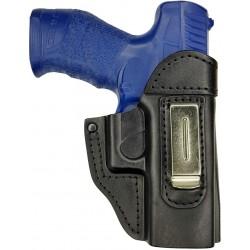 IWB 6 Echt Leder Holster für Walther PPX Schwarz VlaMiTex