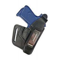 IWB 5-5 Holster en cuir pour pistolet PPK Walther PPKS, Noir, VlaMiTex