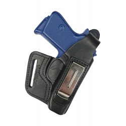 IWB 5-5 Pistolera de piel para PPK Walther PPKS negro VlaMiTex