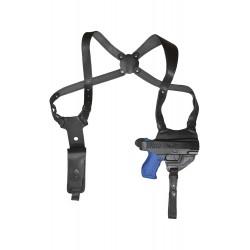 S5 Leder Schulterholster für Walther PPQ schwarz VlaMiTex