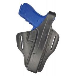 B34 Leder Holster für Glock 17L schwarz VlaMiTex