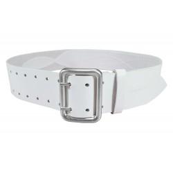 G3 Gürtel verstärkt 5cm Leder Weiß