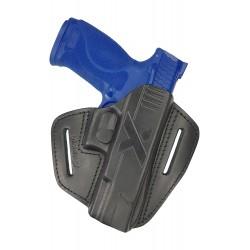 U9 Leder Holster für Smith & Wesson MP40 Schnellziehholster schwarz VlaMiTex