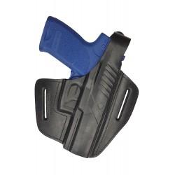 B8 Leder Gürtel Holster für Heckler und Koch P8 schwarz VlaMiTex