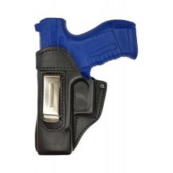 IWB 3Li Leder Holster für Walther P99 schwarz für Linkshänder VlaMiTex