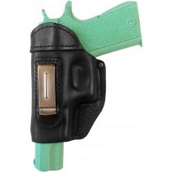 IWB 3Li Leder Holster für Colt 1911 Schwarz für Linkshänder VlaMiTex