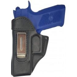 IWB 3Li Leder Holster für CZ 75 P-07 Duty schwarz für Linkshänder