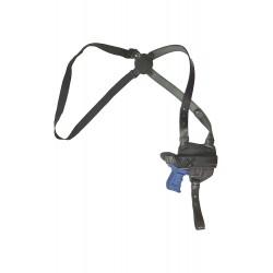 S6 Leder Schulterholster für Walther P22 schwarz VlaMiTex
