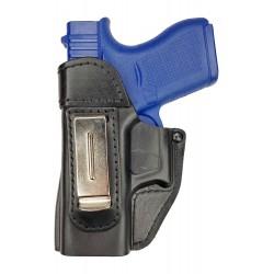 IWB 2Li Leder Holster für Glock 43 für Linkshänder VlaMiTex